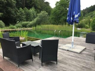Ankunft im Spessart im Heimbuchental, Hotel Christel